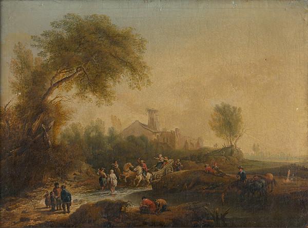 Nemecký maliar - Romantická krajina