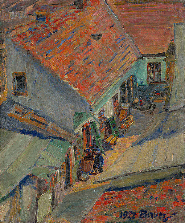 Konštantín Bauer – Pred domom