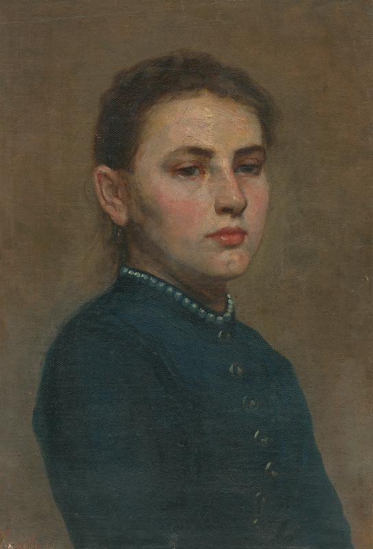 Jozef Hanula – Štúdia dievčaťa s bielymi granátmi