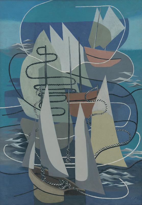Ester Šimerová-Martinčeková - Plachetnice, 1936, Slovenská národná galéria