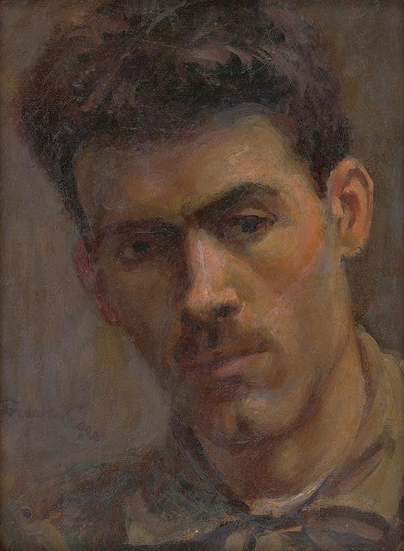 Ladislav Treskoň - Štúdia hlavy muža