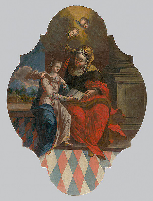 Slovenský maliar a rezbár z 18. storočia, Neznámy autor – Svätá Anna s Máriou