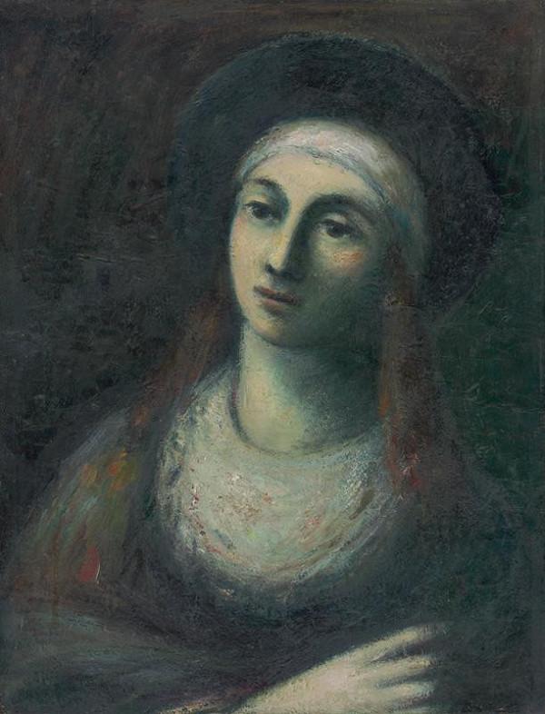 Ján Mudroch – Žena v čiernom klobúku