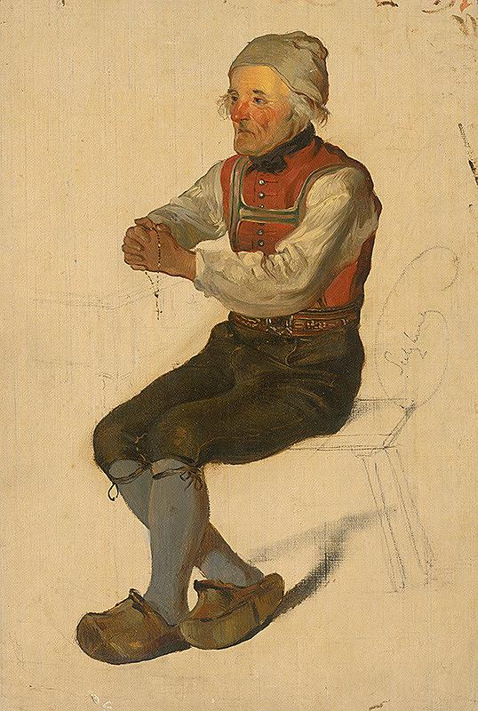 Friedrich Carl von Scheidlin – Štúdia sediaceho sedliaka