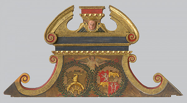 Slovenský maliar a rezbár z 1. tretiny 17. storočia, Neznámy autor - Štítový nadstavec z epitafu