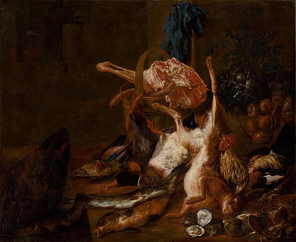 Neznámy autor, Nemecký maliar zo 17. storočia, Pieter Boel – Zátišie so zabitou zverinou