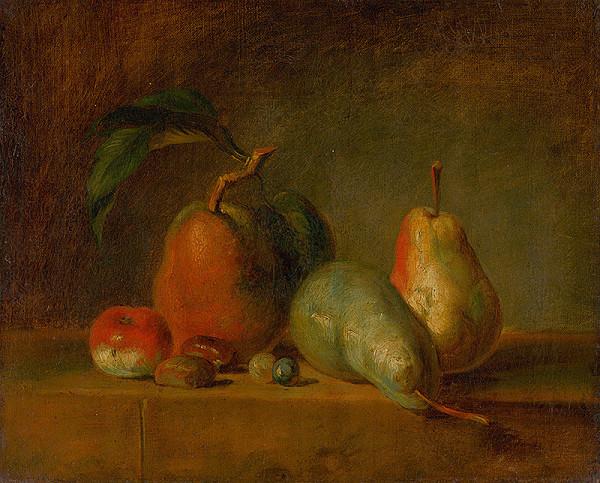 Francúzsky maliar z 19. storočia - Zátišie s hruškami