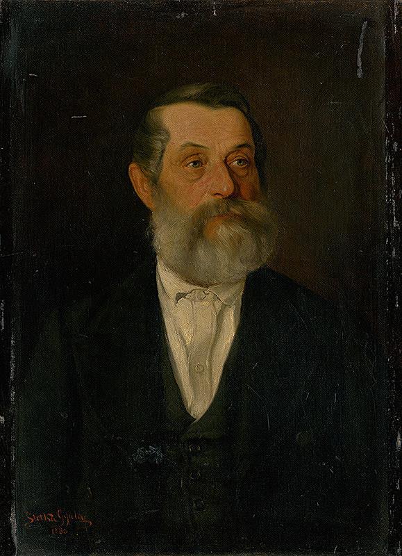 Július Štetka – Podobizeň starého pána so sivou bradou