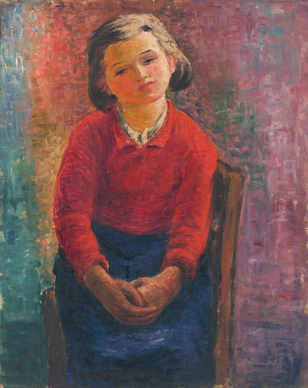 František Reichentál - Sediace dievča
