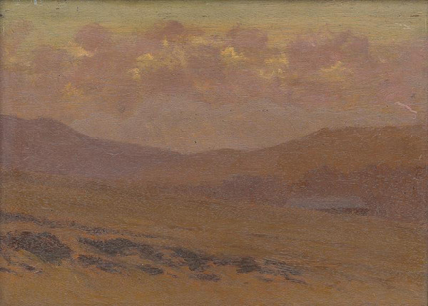 Ferdinand Katona - Podvečerná krajina zo Spišskej Magury