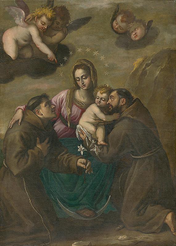 Španielsky maliar z 2. polovice 17. storočia – Immaculata so svätcami