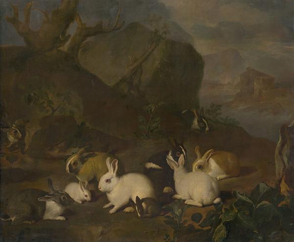 Martin Ferdinand Quadal, Nemecký maliar z 2. polovice 18. storočia – Zajace v krajine