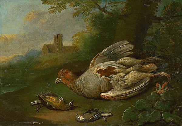 Stredoeurópsky maliar z 18. storočia - Zátišie s divočinou