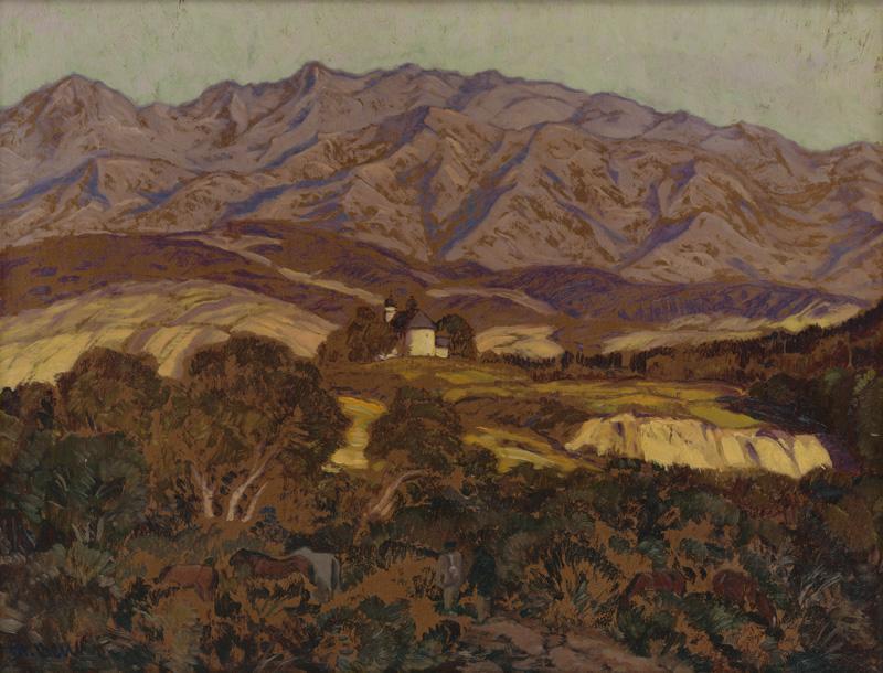 Martin Benka – Slanická osada s kostolom, okolo 1918, Slovenská národná galéria