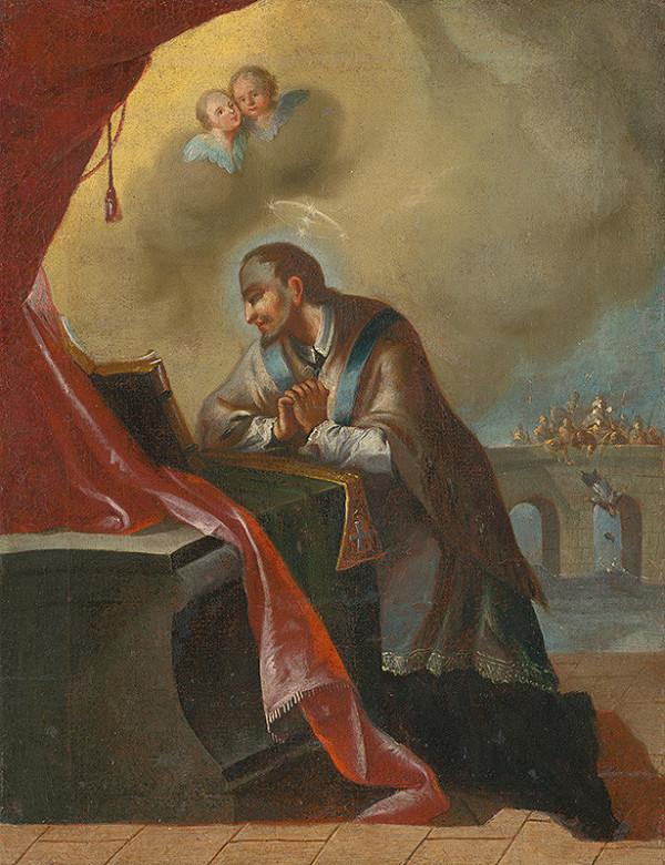 Slovenský maliar z 3. tretiny 18. storočia, Neznámy maliar - Kľačiaci sv.Ján Nepomucký