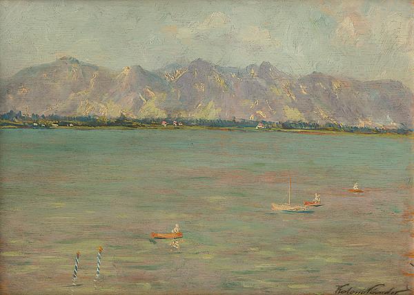 Ferdinand Katona – Horská krajina s jazerom
