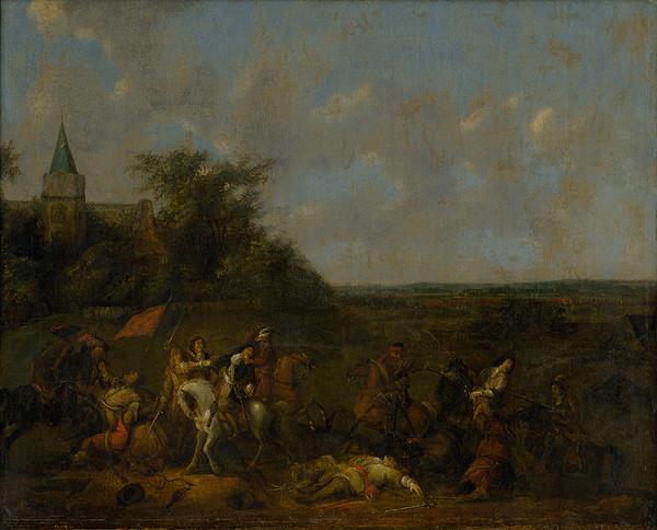 Abraham Veer, Adam Frans van der Meulen - Jazdecká bitka
