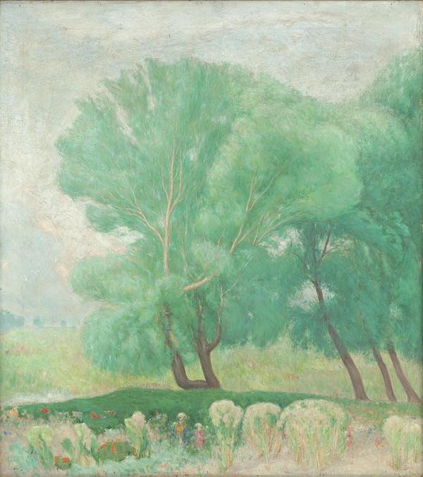 Karol Miloslav Lehotský - Krajina so stromami