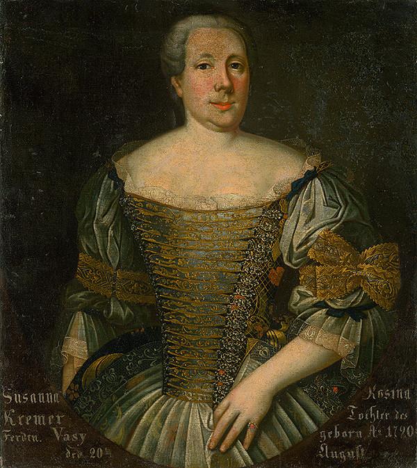 Slovenský maliar z polovice 18. storočia, Neznámy maliar – Podobizeň Zuzany Roziny Kremerovej