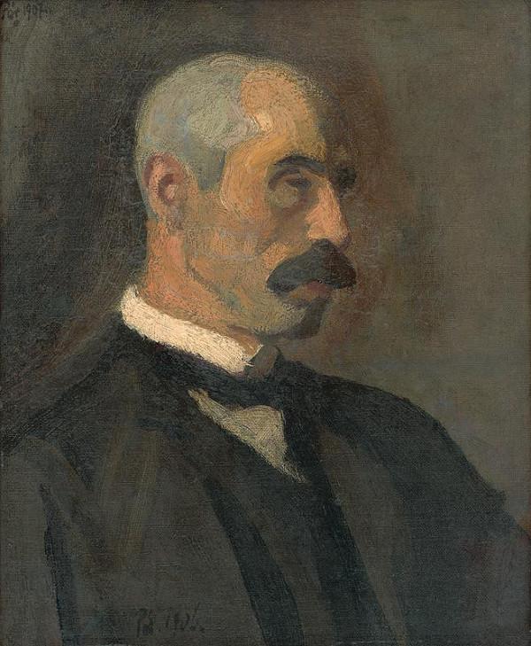 Bertalan Pór - Mužský portrét