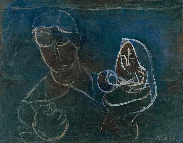 Bertalan Pór - Matka s dieťaťom