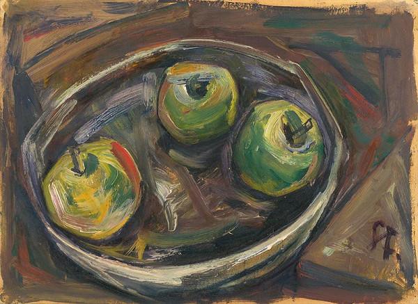 František Studený - Zátišie s jablkami