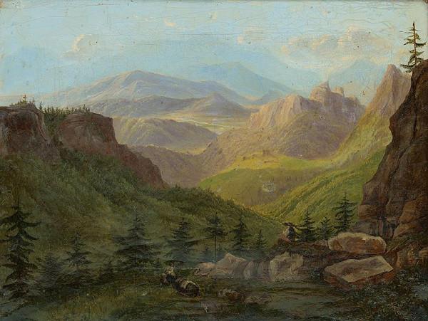 Slovenský maliar okolo polovice 19. storočia – Horská krajina