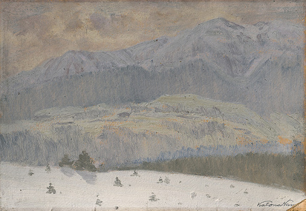 Ferdinand Katona - Zimný deň vo Vysokých Tatrách
