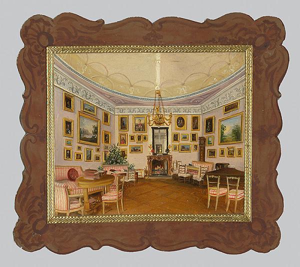Stredoeurópsky maliar z 1. polovice 19. storočia – Zámocký interiér