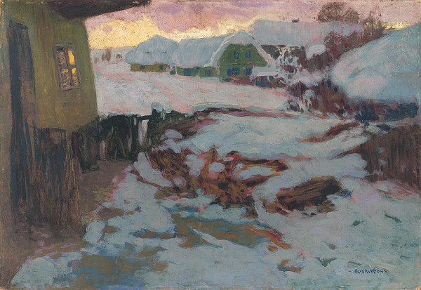 Alois Kalvoda - Zimná krajina