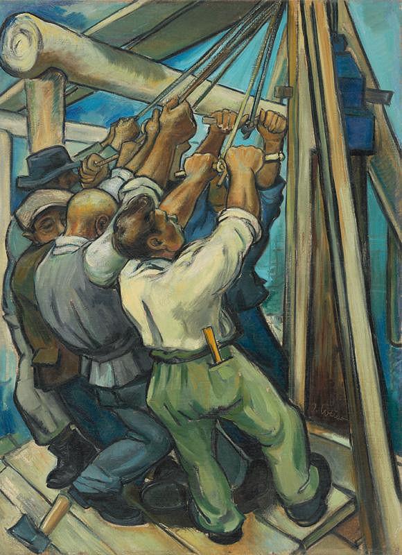 Imrich Weiner-Kráľ - Stavba mostu