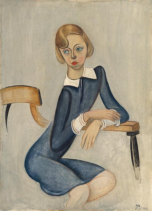Bertalan Pór – Portrét E.Chirenkovej