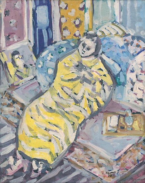 Eugen Nevan – Ležiaca žena po kúpeli