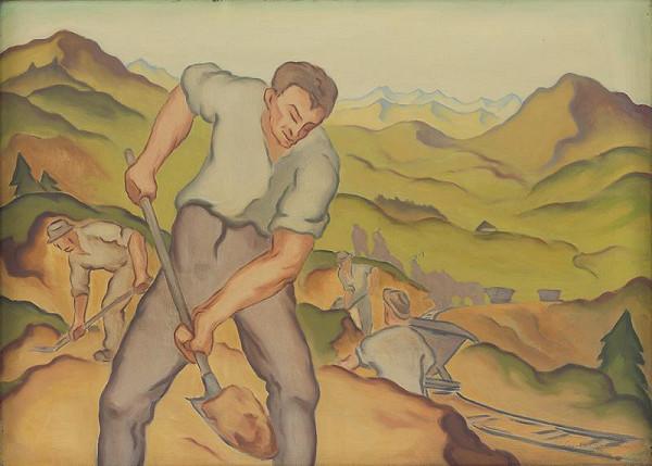 Ľudovít Križan – Robotníci v lome