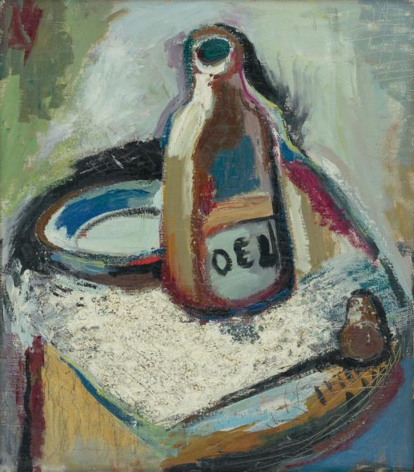 Imrich Weiner-Kráľ - Zátišie s fľašou