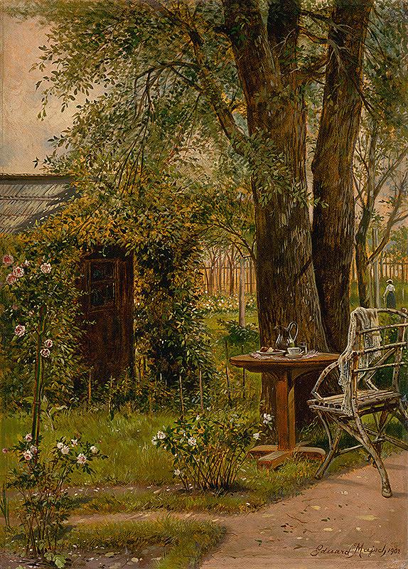 Eduard Majsch – Záhrada so stolíkom