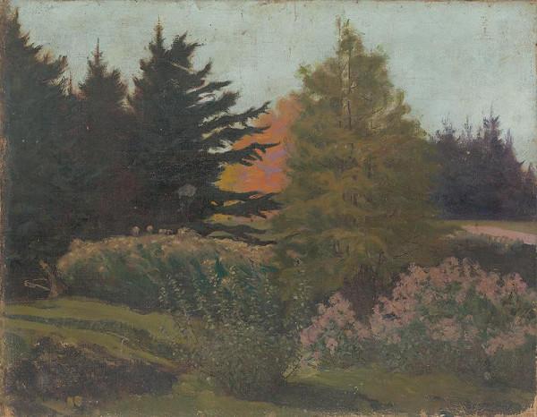 Rudolf August Benyovszky - Podvečer v lehnickom parku