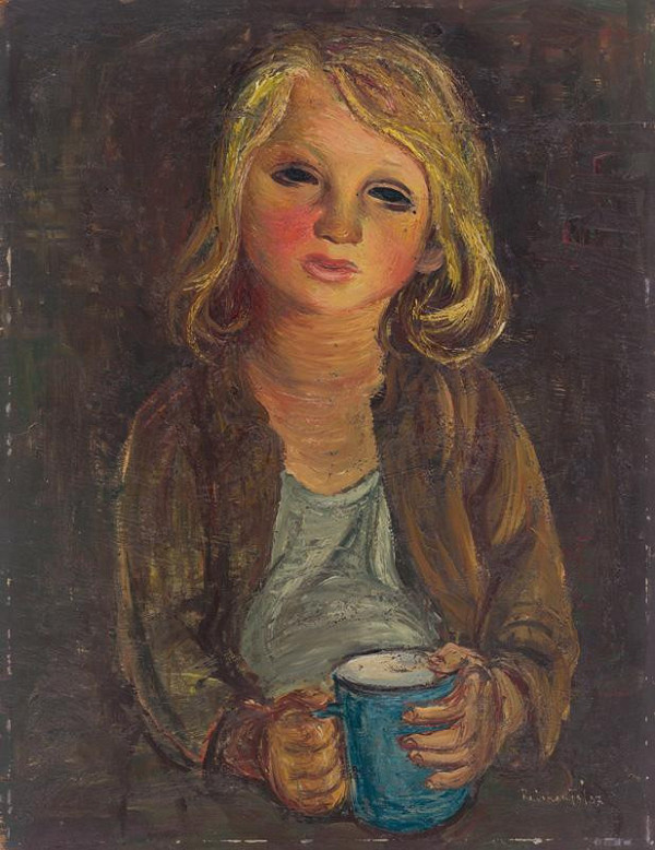 František Reichentál - Portrét dievčaťa