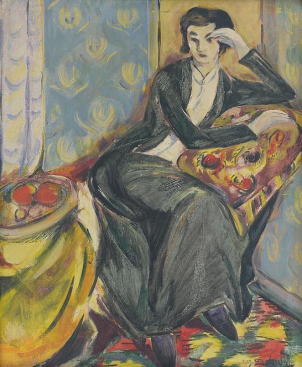 Eugen Nevan – Sediaca žena