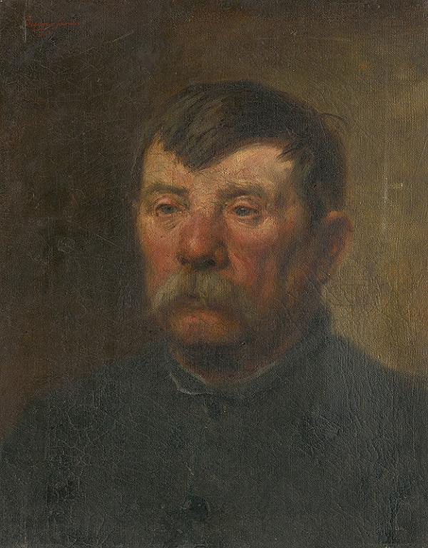 Alexander Buzna – Štúdia hlavy starca