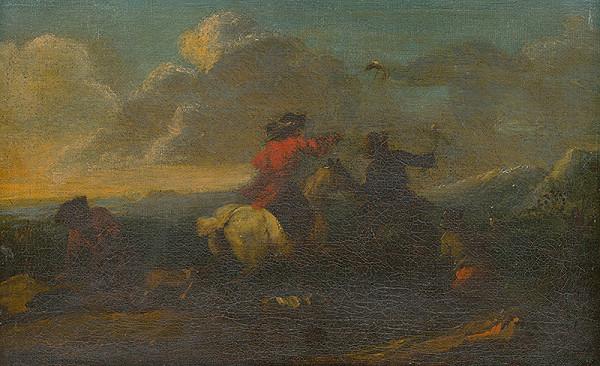 Nemecký maliar z 18. storočia – Výjav z jazdeckej bitky