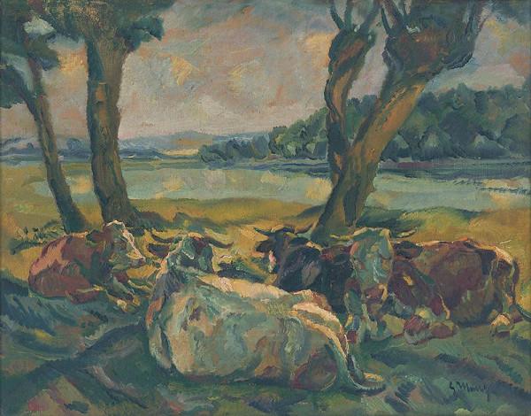 Gustáv Mallý – Odpočívajúce kravy