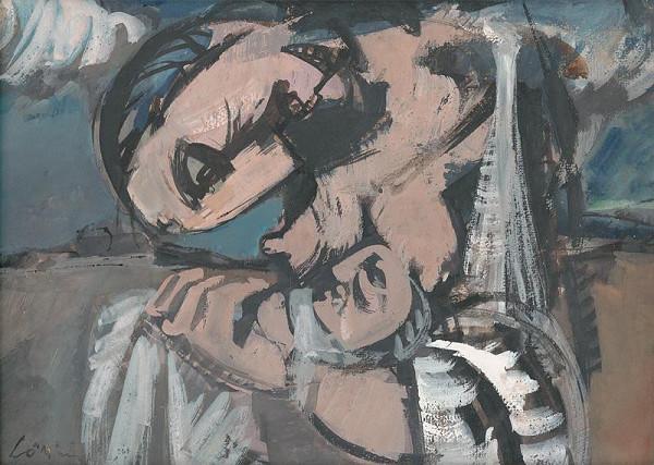 Július Lőrincz - Matka sklonená nad dieťaťom