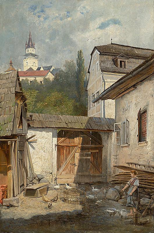Vojtech Angyal – Dvor v Kremnici