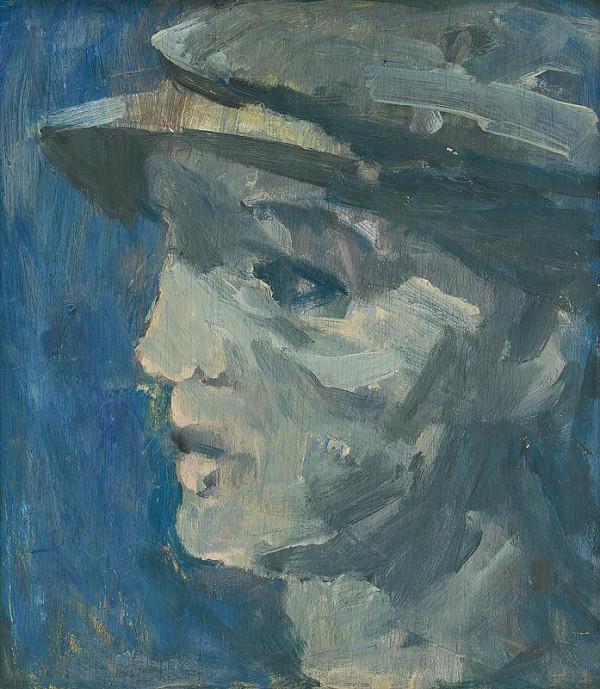 Július Lőrincz – Mladý robotník v šiltovke