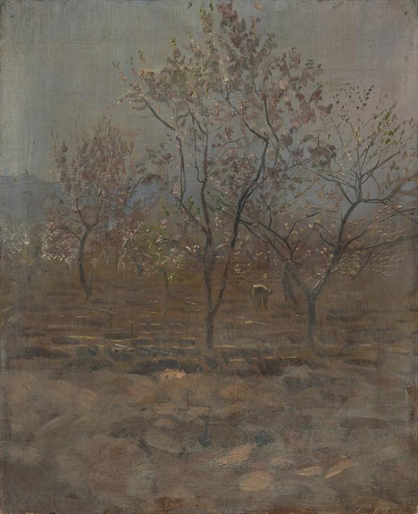 Ladislav Mednyánszky - Kvitnúce stromy v sade