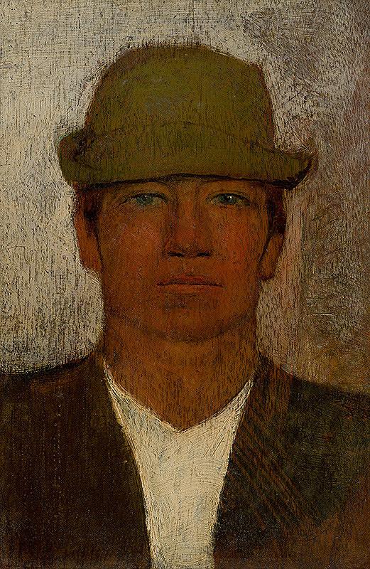 Ladislav Mednyánszky – Hlava paholka v zelenom klobúčiku
