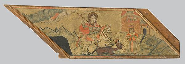 Neznámy ikonopisec - Zápas svätého Juraja s drakom