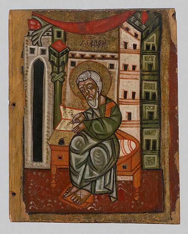 Neznámy ikonopisec – Evanjelista Matúš