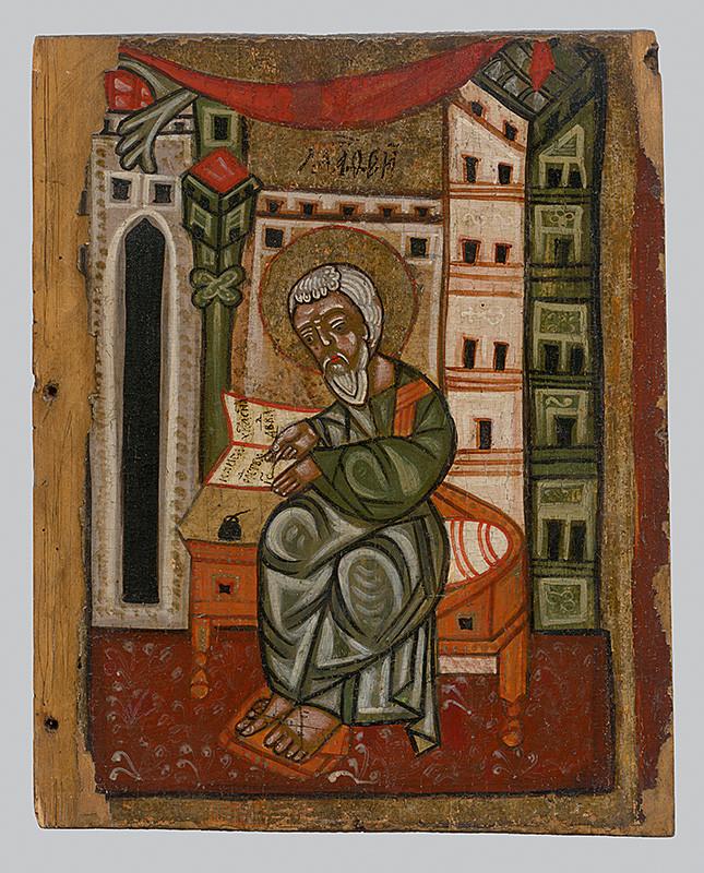 Neznámy ikonopisec – Evanjelista Matúš, 1500 – 1550